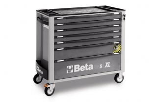 Beta C24SAXL/7-G Mobile Roller Cab With 7 Drawers (Grey)